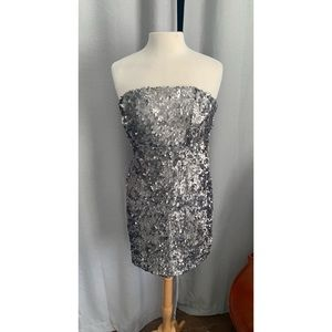 Urban Outfitters Silver Sequin Dress - size 10